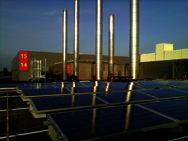 Foto impianti fotovoltaici sul coperto della centrale